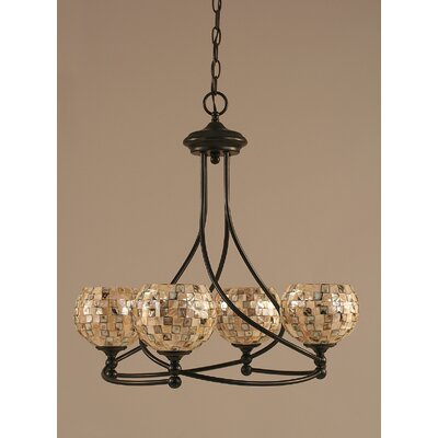 Toltec Lighting Capri 4 Light Chandelier