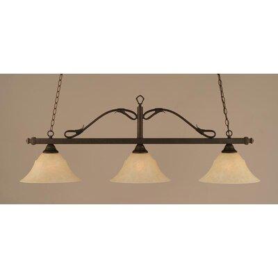 toltec lighting 3 light wrought iron rope kitchen island. Black Bedroom Furniture Sets. Home Design Ideas