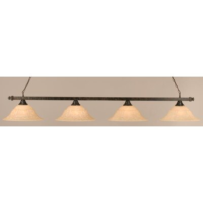 Toltec Lighting 4 Light Square Kitchen Island Pendant