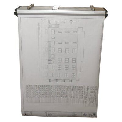 Adir Corp Drop/Lift Wall Rack for Blueprints