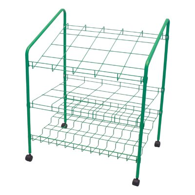 Adir Corp 12 Opening Wire Bin Roll File Filing Cart