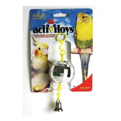 J.W. Pet Company Activitoys Disco Ball Bird Toy
