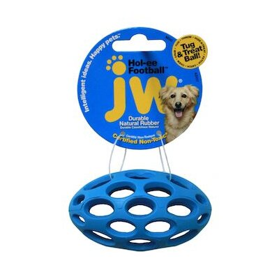 J.W. Pet Company Mini Hole-Ee Football Dog Toy