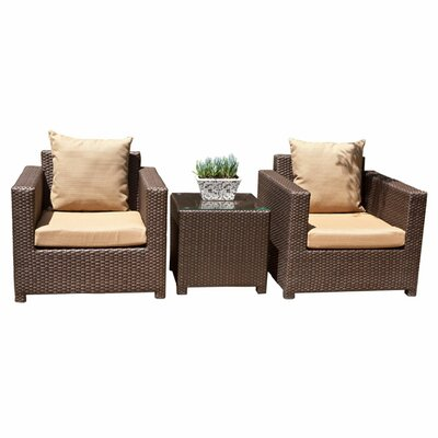 <strong>AIC Garden & Casual</strong> Metro 3 Piece Deep Seating Group with Cushions