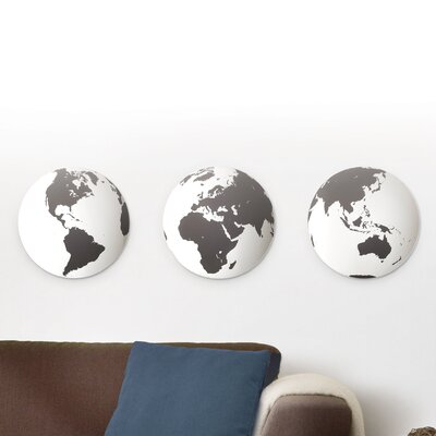 Umbra 3 Piece Globo Mirrored Tiles Wall Décor
