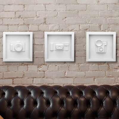 Umbra 3 Piece Candid Vintage Camera Wall Décor Set