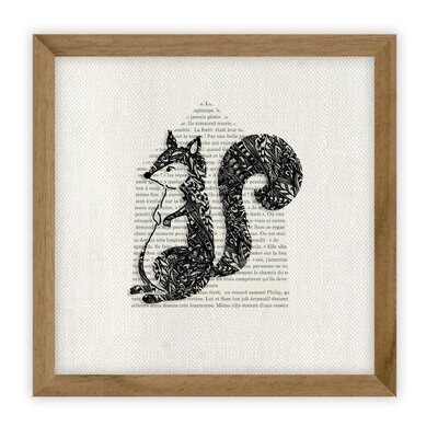 Fable Squirrel by Erika Kovesdi Framed Graphic Art