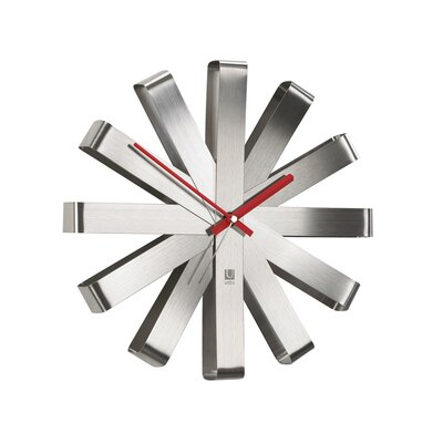 Umbra Ribbon Clock in Steel
