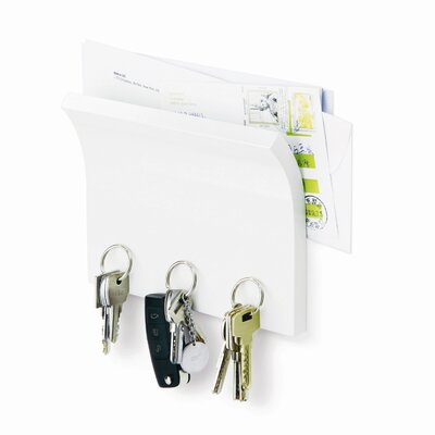 Magnetter Key Panel and Letter Holder in White