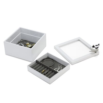 Umbra Meadow Wood Jewelry Box with Ring Holder