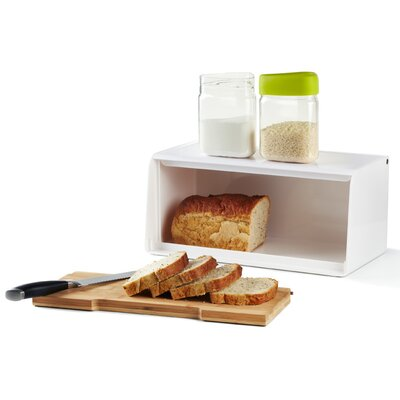 Umbra Slice Bread Box with Built-In Bamboo Cutting Board
