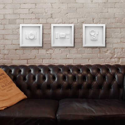 Umbra Candid Three-Piece Vintage Camera Wall Decor Set