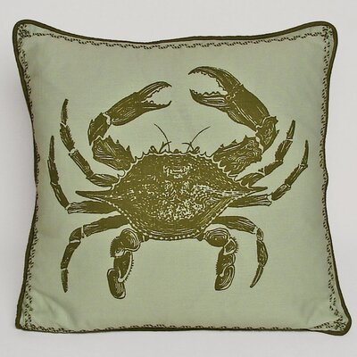 Kevin O'Brien Studio Crab Decorative Pillow