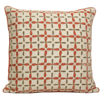 Kevin O'Brien Studio Petals Embellished Linen Pillow