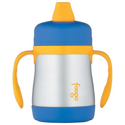 Thermos Foogo Phases 7 oz Leak Proof Sippy Cup with Handle in Blue