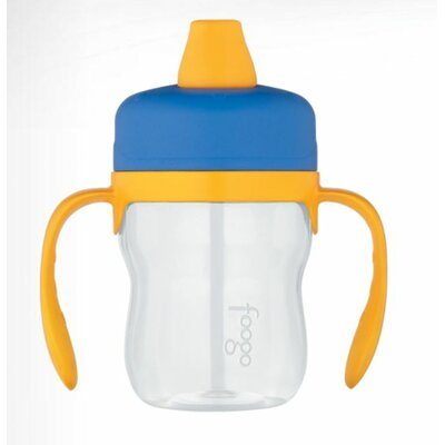 Foogo Phases 8 oz Leak Proof Sippy Cup with Handle in Blue