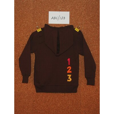 Jasper Hearts Wren ABC/123 Hoodie in Brown