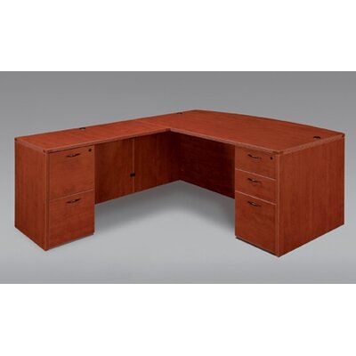 DMI Office Furniture Fairplex Right / Left Bow Front L Executive Desk