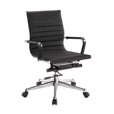 DMI Office Furniture Pantera Metal and Synthetic Low-Back Leather Office Chair