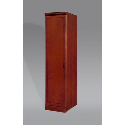 DMI Office Furniture Belmont Left Hand Facing Single Door Bookcase in Brown Cherry