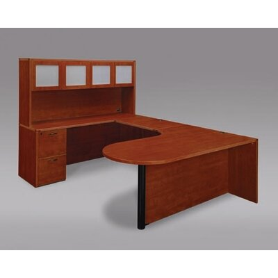 "DMI Office Furniture Fairplex Left Executive Corner Peninsula/Bullet ""U"" Desk"