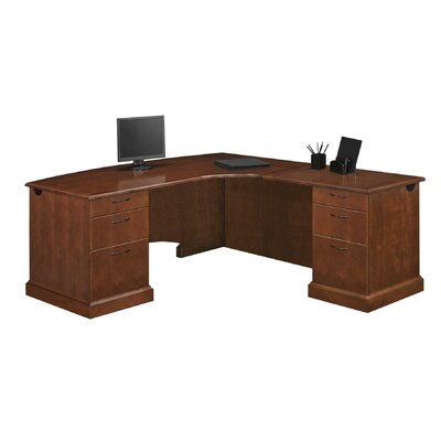 DMI Office Furniture Belmont Right Corner &quot;L&quot; Executive Desk with 6 Drawers