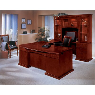 DMI Office Furniture Del Mar Executive U-Shape Bow Front Desk with Right Return
