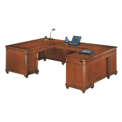 DMI Office Furniture Antigua Executive U-Shape Desk with Right Return