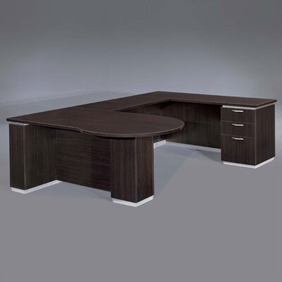 Dmi Pimlico Right Peninsula U Shape Executive Desk Flat