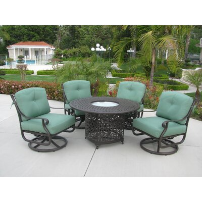 Meadow Decor Kingston 5 Piece Dining Set with Firepit