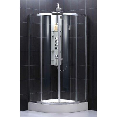 Dreamline Sector Center Sliding Door Shower Enclosure (Small)