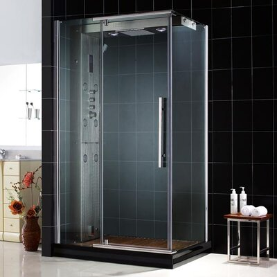 Dreamline Majestic Pivot Door Steam Shower Enclosure with Majestic Base