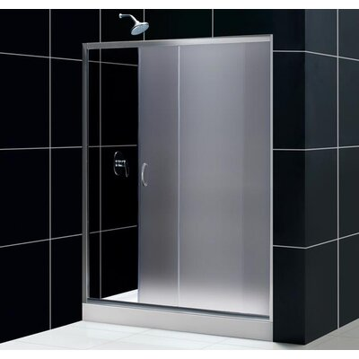 Dreamline Infinity Sliding Door Shower Set with Center Drain Amazon Base