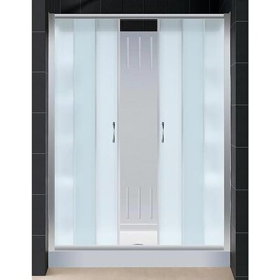 "Dreamline Visions Sliding Door Shower Set with 30"" x 60"" Amazon Base and Left Drain"