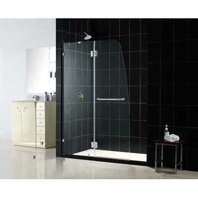 Dreamline Aqua Lux Pivot Shower Door with Left Drain and Amazon Base Kit