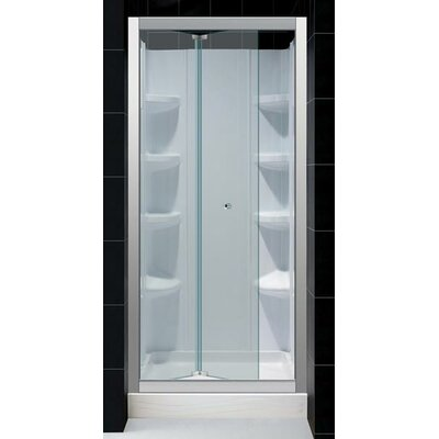 Dreamline Butterfly Pivot Door Shower Enclosure with Trio Shower Base and Backwall