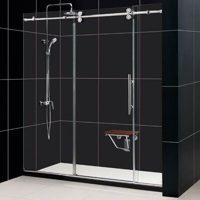 Frameless Sliding Shower Door Clear 1 2 Glass Door Reviews