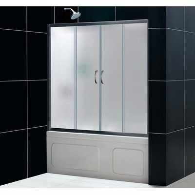 "Dreamline Visions Sliding Door Shower Set with 30"" x 60"" Amazon Base and Right Drain"