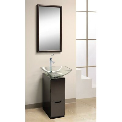 "Dreamline 9.88"" Glass Slim Line Vanity Only"