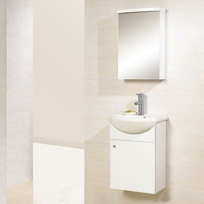 "Dreamline Modern 16.75"" Single Sink Bathroom Vanity Set"