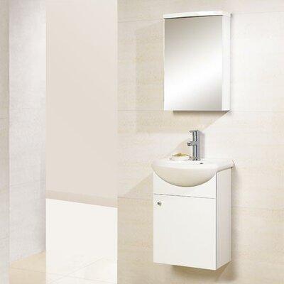"""Dreamline Modern 16.75"""" Single Sink Bathroom Vanity Set"""