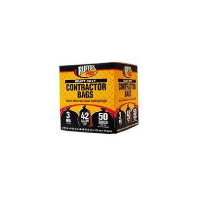 Berry Contractor 42 Gallon Heavy-Duty Clean Up Bags in Black (50 Count)