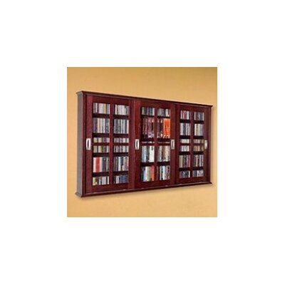 Leslie Dame Enterprises Triple Glass Door Multimedia Wall Mounted Cabinet