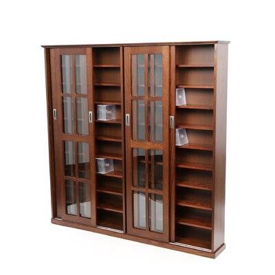 Leslie Dame Enterprises Glass Door Multimedia Cabinet