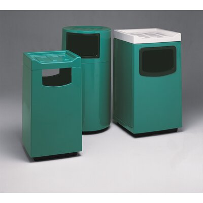 Witt Fiberglass Series 45 Gallon Round Food Court Receptacle