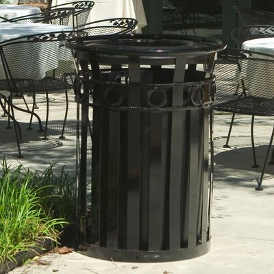 Witt 36 Gallon Stadium Series Round Ring Receptacle with Ash Urn Lid
