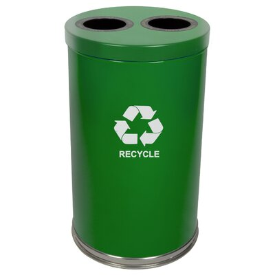 Witt Metal Recycling Two Opening Multi Compartment Recycling Bin