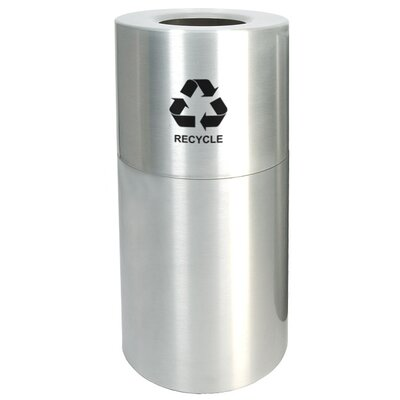 Witt 35 Gallon Aluminum Series Recycling in Satin Clear Coat
