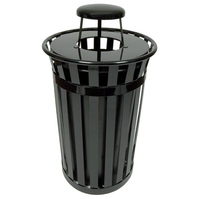 Witt Oakley Collection 24 Gallon Trash Receptacle with Rain Cap