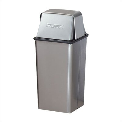 Witt Metal Series Wastewatchers 13 Gallon Stainless Steel Receptacle with Rigid Plastic Liner